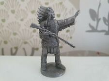 Metal Figurine 54mm Un-painted american indian Collectible wild west