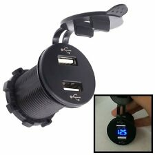 Dual Usb Charger Socket Power Outlet 4.2A with Voltmeter for Phone Car Boat