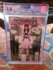 INVINCIBLE IRON MAN #7 CGC 9.6 WHITE PAGES VARIANT   1ST RIRI WILLIAMS CAMEO