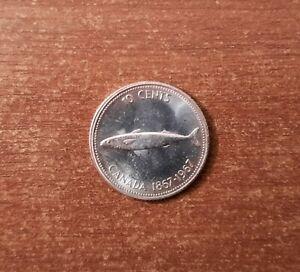 * Canada 10 cent 1967 Commemorative * Fish * Silver * КМ 67 * Unc (Sc.2)