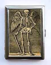 Skeleton Angel Cigarette Case Wallet Business Card Holder psychobilly gothic