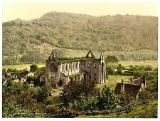6 Victorian Views Pictures Tintern Village Abbey interior Old Photos Set Poster