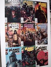 Planet Of The Apes Set Of 9 Nm Movie Tim Burton Dark Horse Human War 1,2,3,4,5,6