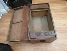 Old ANTIQUE Timber CEDAR Box CHEST with SECRET Compartments CARVED Adelaide