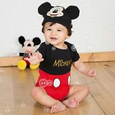 Disney Baby Mickey Mouse Bodysuit Vest 0-3mths - Toddler Babies Costume Outfit