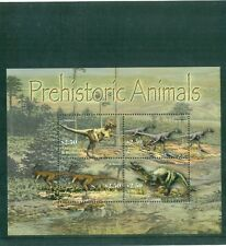 Antigua 2005  Prehistoric Dinosaurs Ceratosaur Baryonyx   Minisheet  MNH Sc 2809