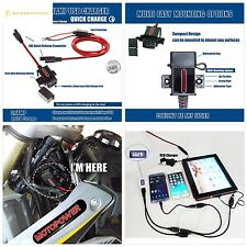Motopower Mp0609A 3.1Amp Motorcycle Usb Charger Kit Sae to Usb Adapter Phone Gps