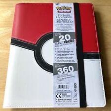 More details for ultra pro poke ball premium pro-binder - leatherette (holds 360 cards) pokemon!