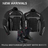Motorbike Leather Shoes Racing Boots Waterproof Motorcycle Textile Jacket Coat