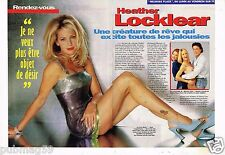 Coupure de presse  Clipping 1997 (4 pages) Heather Locklear Melrose Place
