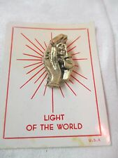 Vintage Pin Brooch Light of the World Hand cupping Child