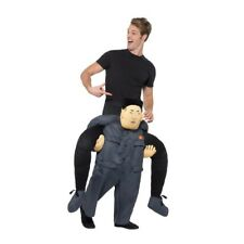 Adult Ride On Kim Jong Un Dictator Costume Lift Me Up Funny Stag Fancy Dress Men