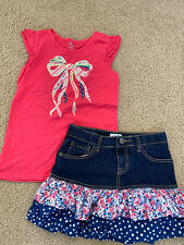 The Childrens place girls shirt and skirt set 10