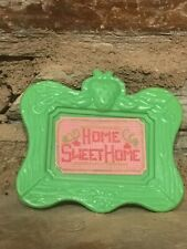 Strawberry Shortcake HOME SWEET HOME PICTURE Berry Happy Home Doll House 1980's