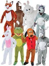 Adults Deluxe Animal Big Head Fancy Dress Costumes Funny Unisex Mascot Farm Book