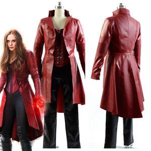 Avengers Captain America Civil War Scarlet Witch Wanda Cosplay Costume Jacket