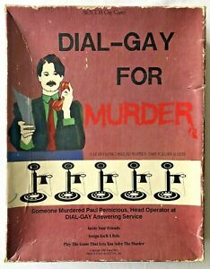Dial-Gay For Murder  VINTAGE (1987) A Role Playing Murder Mystery (Never Played)