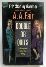 DOUBLE OR QUITS Gardner DELL Mystery DETECTIVE