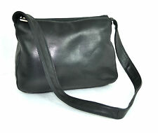 VINTAGE RO-EL Black Genuine Leather Hobo / Shoulder Bag HANDBAG Excellent CANADA