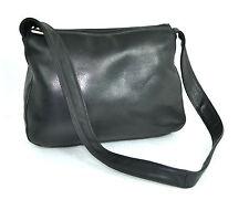 VINTAGE RO-EL Black Genuine Leather Hobo / Shoulder Bag HANDBAG Excellent CANADA