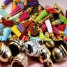 50Pcs Brass Caps Jewelry Findings End Cap Beads Making Supply DIY Crafts Gift