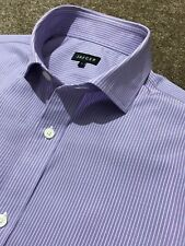 GORGEOUS JAEGER LILAC BENGAL STRIPE DOUBLE CUFF CLASSIC FIT SHIRT 15