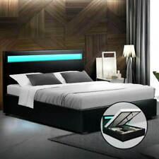 Artiss BFRAME-E-COLE-D-BK-ABC PU Leather Bed Frame, Size Double Full - Black