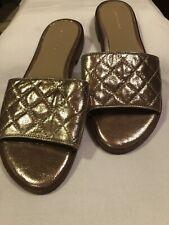Ann Taylor Gold Slides New 7.5 M