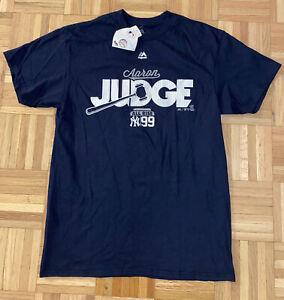 NWT New York Yankees Aaron Judge #99 All Rise Navy Blue T-Shirt Tee Sz Medium