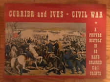 """Currier & Ives """"Civil War: A Picture History in 48 Hand Colored Prints"""" 1960 1ST"""