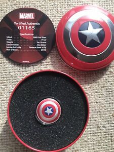 1oz Silver Captain America Shield Coin