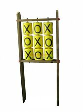 Giant Tic Tac Toe Set on Wooden Frame 9 Spinners Playground Cubbyhouse Games