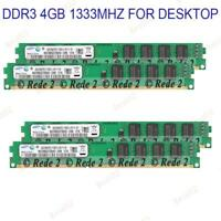 1/2/4X4GB 240pin DDR3 desktop memory RAM CL9 PC3-10600 1333MHz RAM Für Samsung