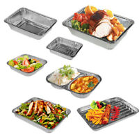 Aluminium Foil Serving Trays Disposable Plates BBQ Grill Grilling Baking Oven