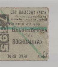 Antigua billete/Old ticket: Hebden brigde to Rochdale. 8.7.1916 (529)