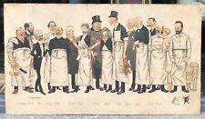 Lithographie Ancienne Adrien BARRERE (1874-1931) Humour Caricature Médecine XIXe