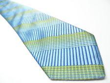 Ted Baker London Men's Tie 100% Silk Blue Stripped Necktie