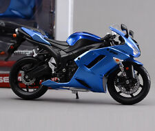 1/12 Assembled Blue Kawasaki ZX-6R Autocycle Models Collection Toys
