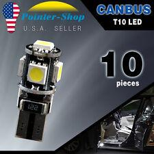 10x White T10 Wedge Canbus ERROR FREE 5050 5SMD Car LED Light bulbs W5W 194 168