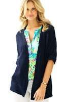 Lilly Pulitzer NAVY HARBOUR KIMONO CARDIGAN Dolman Open Front Sweater XS - NWT