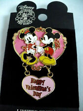 Disney Happy Valentine's Day PIN Mickey & Minnie Mouse LE with Free Shipping