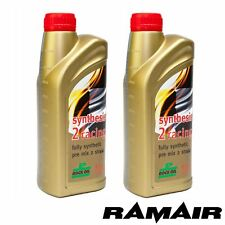 2x 1L Rock Oil Synthesis 2 Racing Fully Synthetic 2 Stroke Engine Oil for Vespa