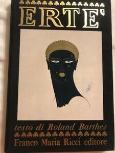 Erté editore FMR Franco Maria Ricci testo di Roland Barthes