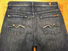 RARE 7 FOR ALL MANKIND relaxed BUTTON FLY PREMIUM JEANS 31x27 Tag 29 BEST Y35