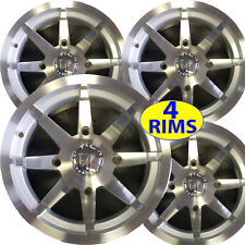 "FOUR 2009-2014 Polaris RZR S RG  ATV RIMs 14"" 14x8 4+4 4x156 for over size tires"