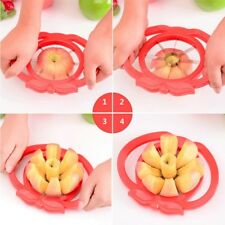 Apple Slicer Cutter Fruit Pear Corer Divider Stainless Steel Metal Blade