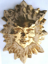 "8"" Golden Sun Figurine Wall Sculpture, Original Signed Work by Claybraven"