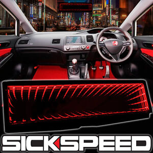 SICKSPEED GALAXY MIRROR LED LIGHT CLIP-ON REAR VIEW WINK REARVIEW RED P6