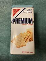 Vintage Nabisco Premium Saltine Crackers Tin 1978 4 Stack Pack