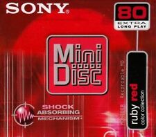 Sony MD 80 Ruby Red Recordable Blank Minidisc -
